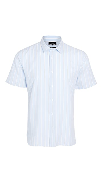 Vince Varigated Stripe Short Sleeve Shirt