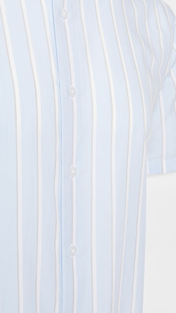 Vince Varigated Stripe Short Sleeve Shirt