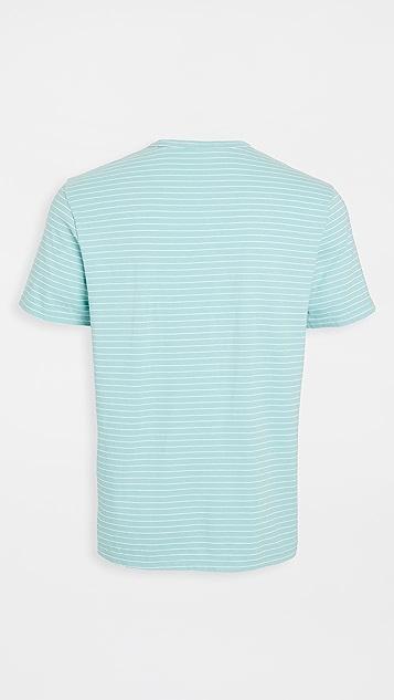 Vince Garment Dyed Stripe T-Shirt