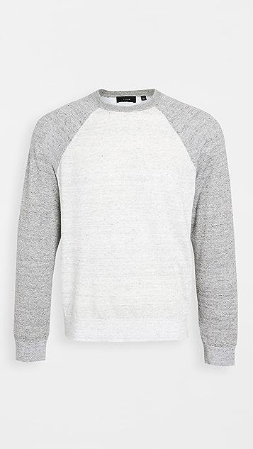 Vince Long Sleeve Baseball Crew Neck Sweater