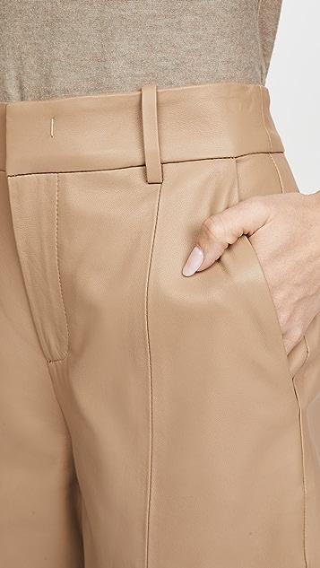 Vince 皮短裤