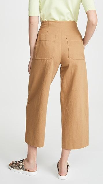 Vince 高腰实穿长裤