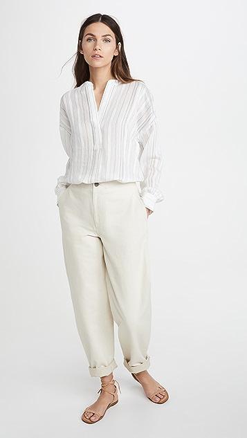 Vince Drapey Stripe Pullover