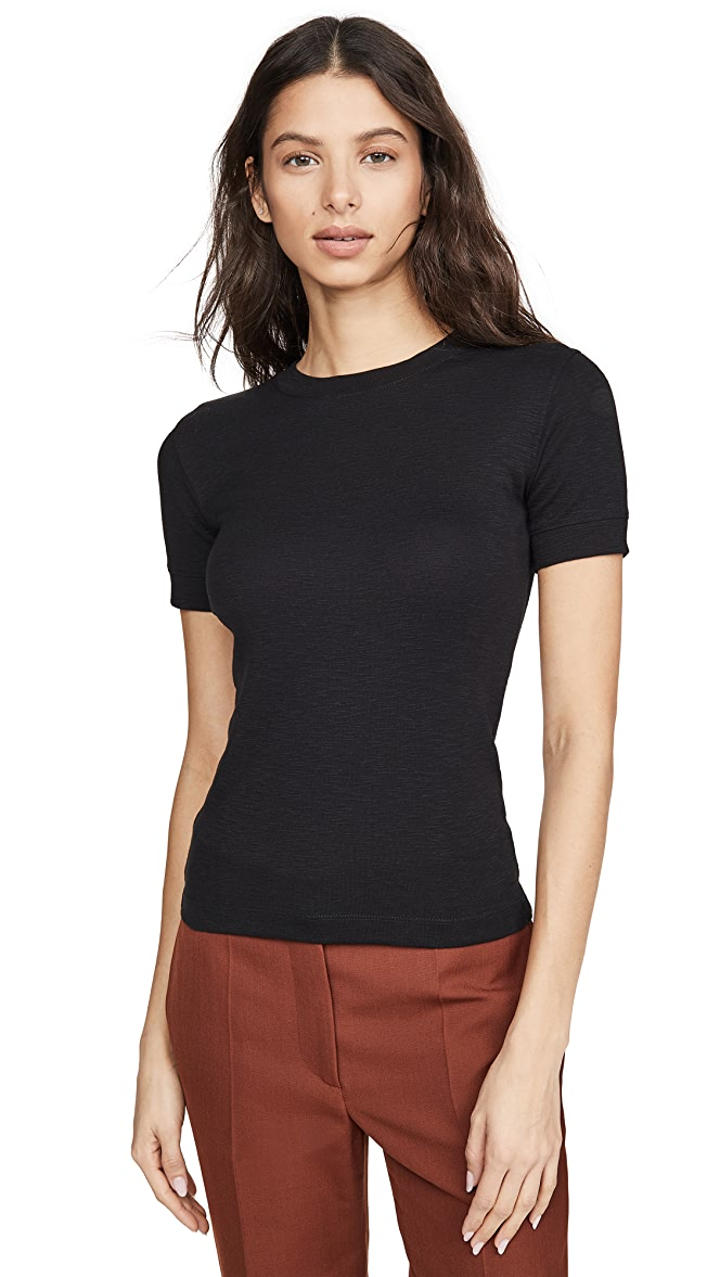 Vince Womens Short Sleeve Shrunken Tee