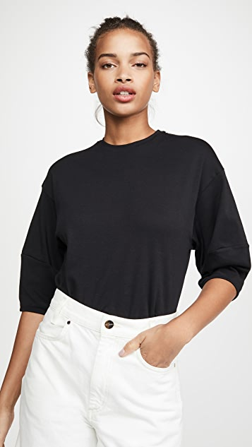 Vince Puff Sleeve Pima Cotton Crew