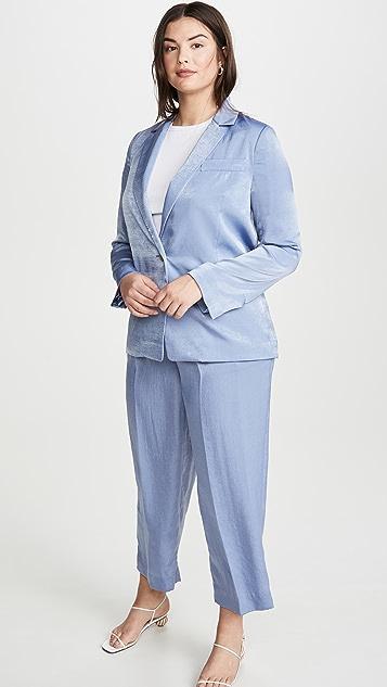 Vince 垂褶男友风格西装外套