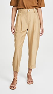 Vince Cropped Silk Trousers