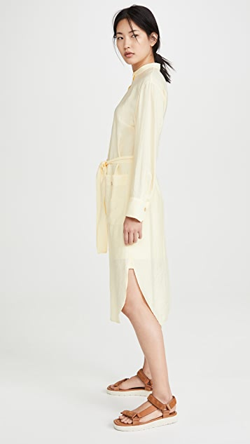 Vince Belted Button Down Dress