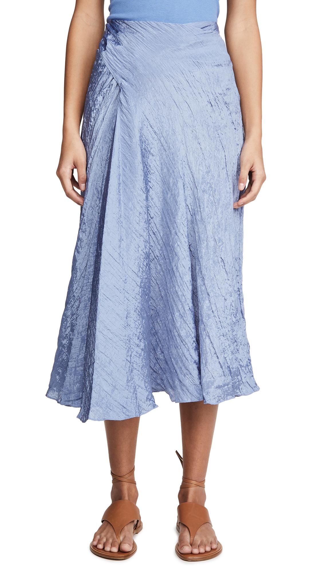 Vince Textured Drape Skirt