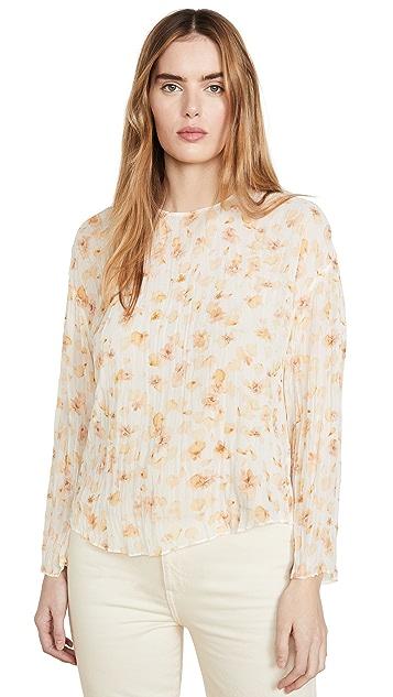 Vince 花瓣压花长袖女式衬衫