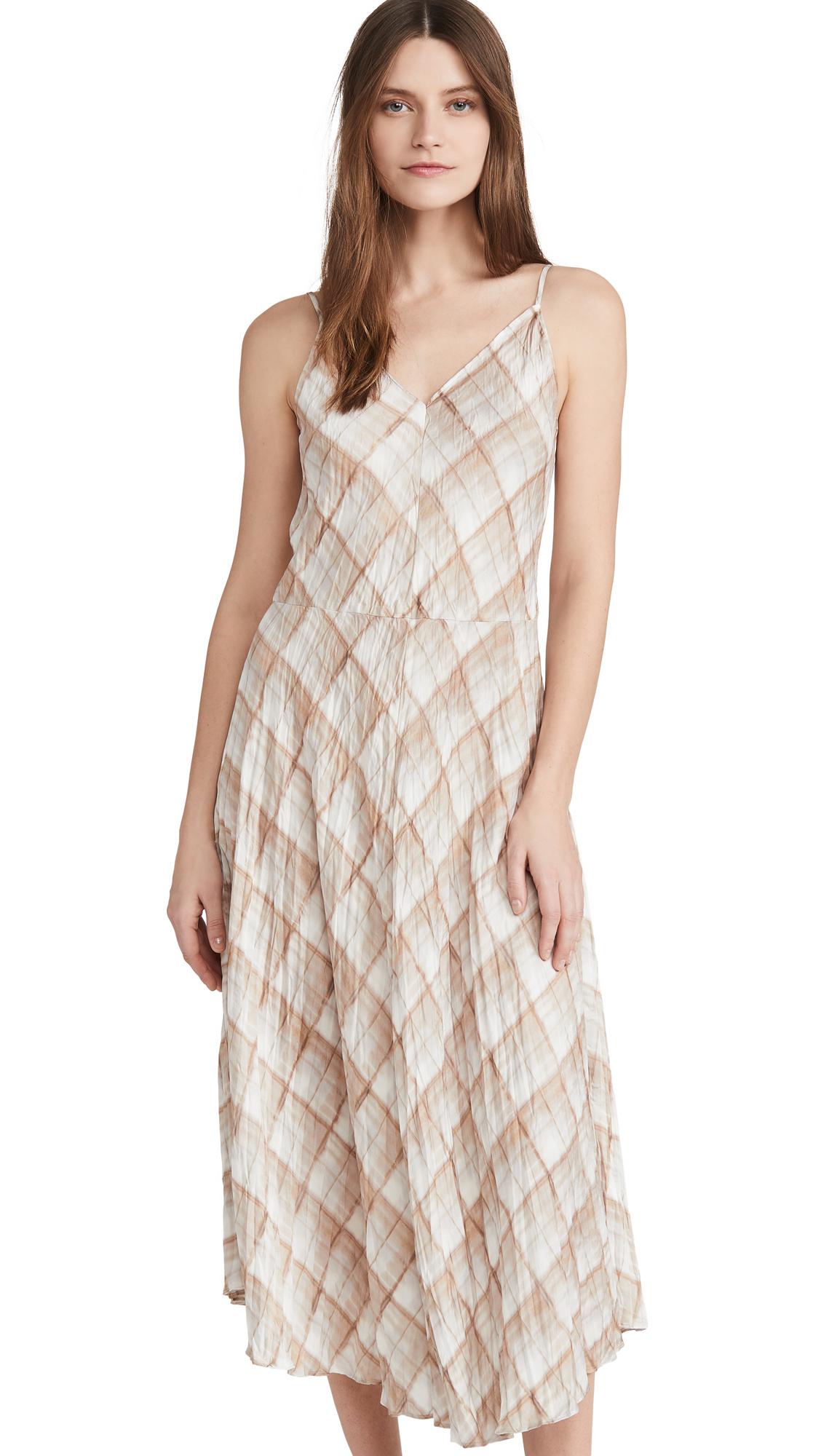 Vince Hazy Plaid Cami Dress