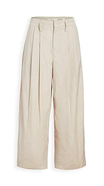 Vince Pleat Front Crop Wide Pants