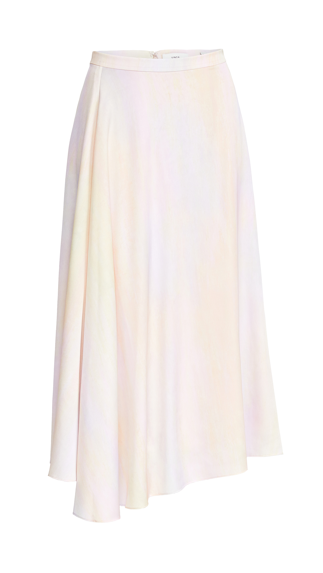 Vince Rainbow Tie-Dye Drape Skirt