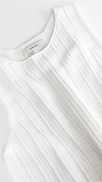 Vince 编织缝线背心