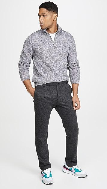 Vince Long Sleeve Quarter Zip Cashmere Sweater