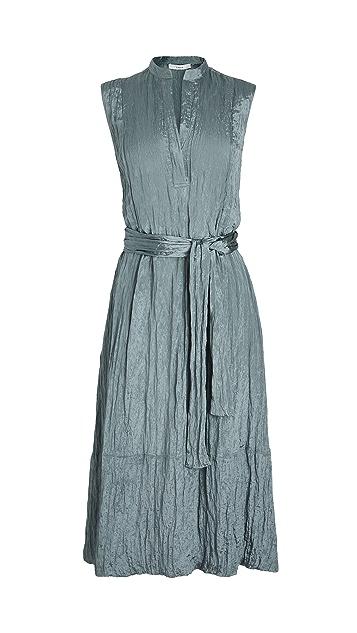 Vince Textured Sleeveless Popover Dress