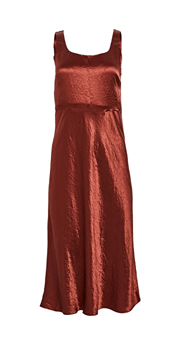 Vince Slim Fitted Slip Dress - Sangre