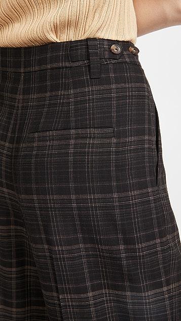 Vince Classic Plaid Trousers