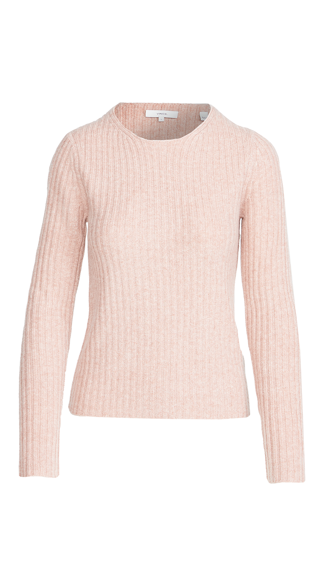 Vince Fitted Ribbed Crew Sweater