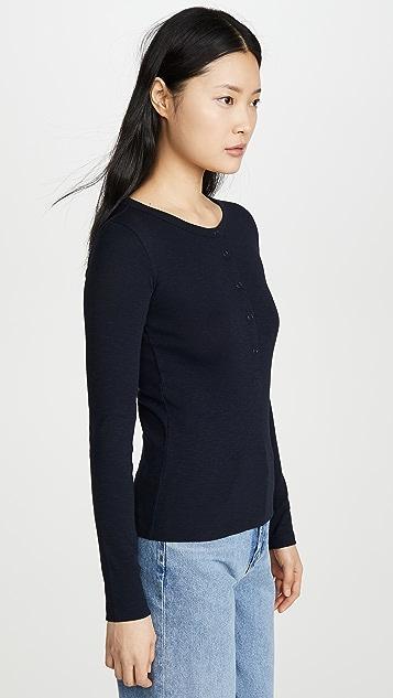 Vince Long Sleeve Henley Shirt