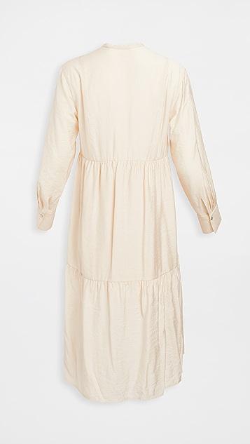 Vince Tiered Long Sleeve Dress
