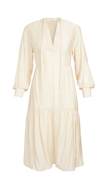 Vince Tiered Long Sleeve Dress