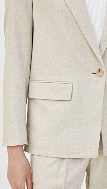 Vince 男友风格法兰绒西装外套