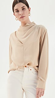 Vince Cowl Neck Long Sleeve Blouse