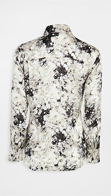 Vince Painted Crema Silk Blouse
