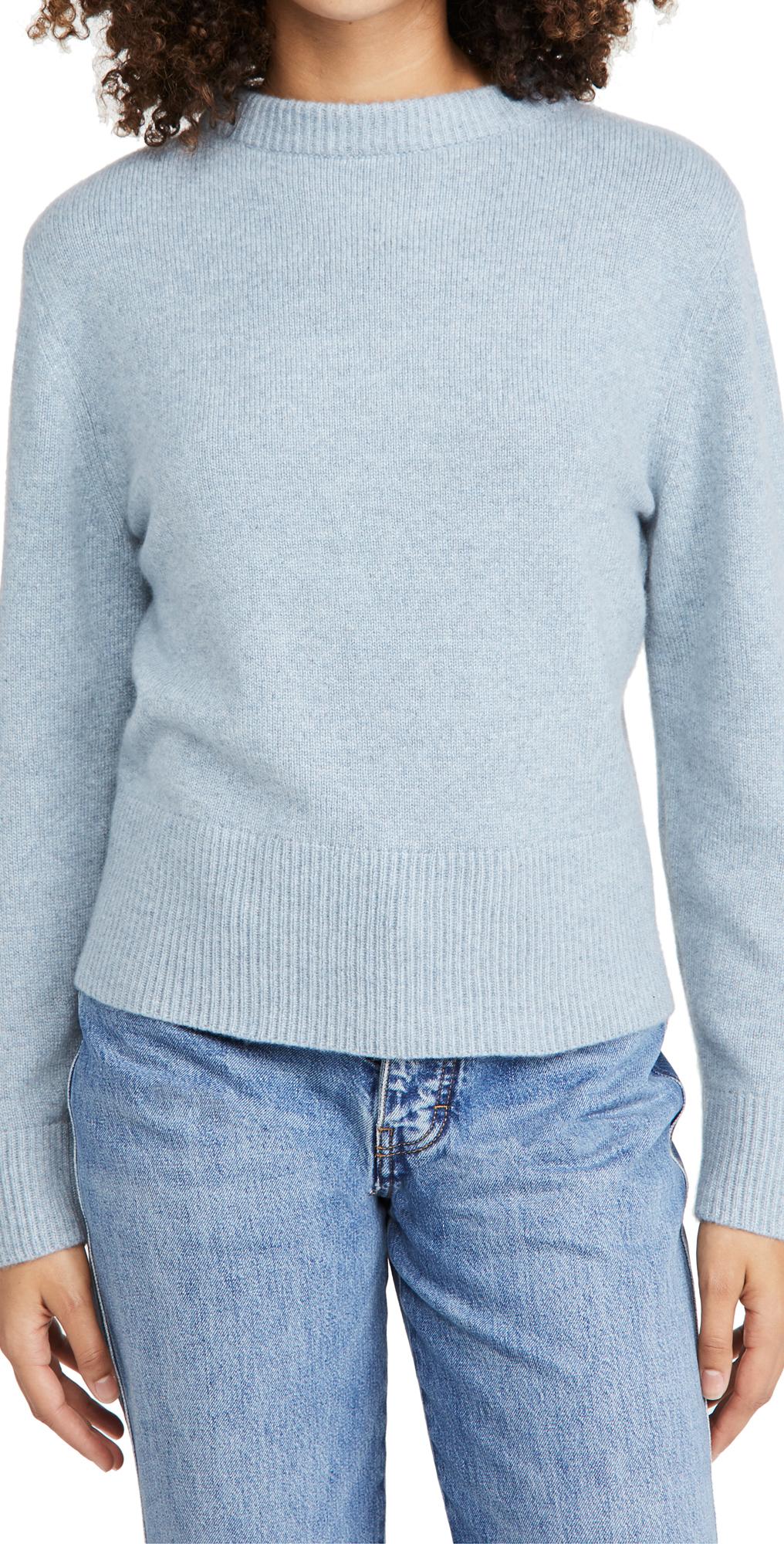 Vince Drop Shoulder Mock Neck Cashmere Sweater