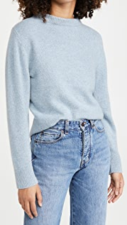 Vince Drop Shoulder Mock Neck Cashmere Sweater