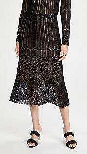 Vince 梯形缝线半身裙