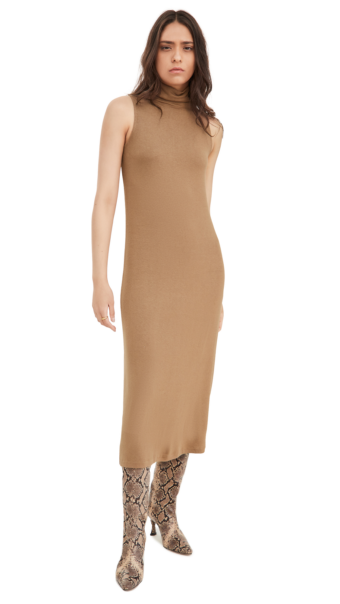 Vince Sleeveless Mock Neck Dress