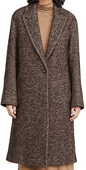Vince Twill Coat - Chocolate