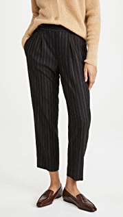 Vince Flannel Stripe Pull On Pants