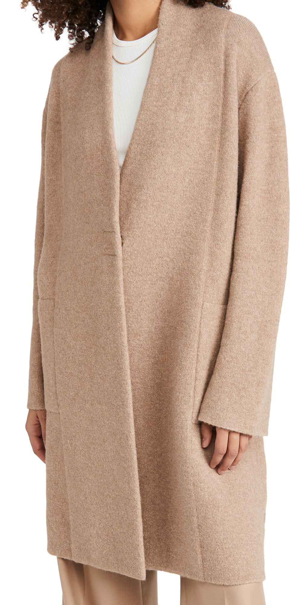 Vince Collarless Cardigan Coat