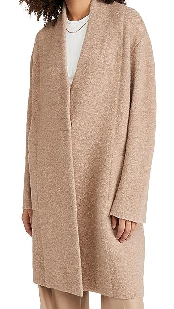 Vince Collarless Cardigan Coat