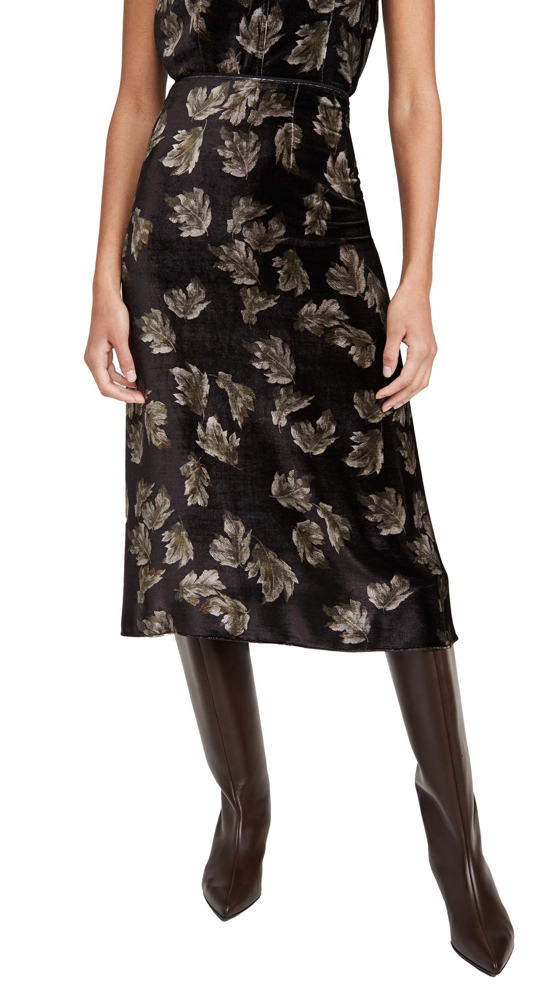 Vince Fallen Leaf Slip Skirt