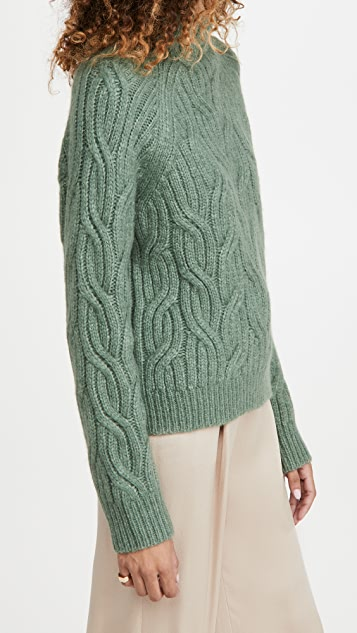 Vince Twisted Chain Turtleneck