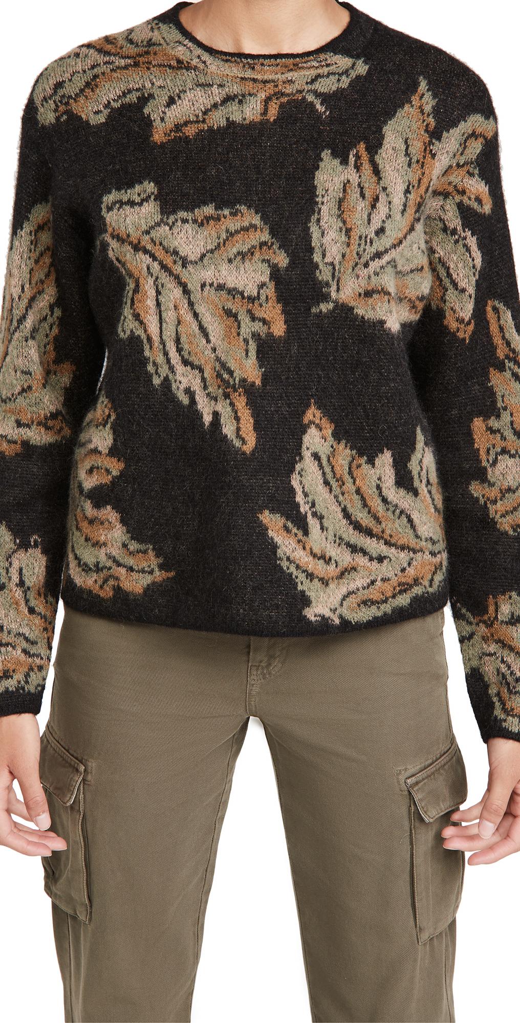 Vince Leaf Jacquard Pullover