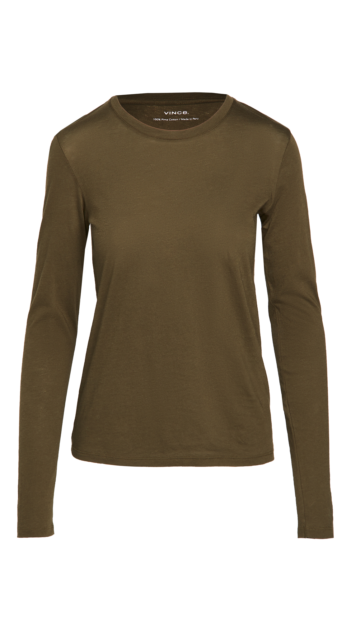 Vince Essential Long Sleeve Crew Pullover