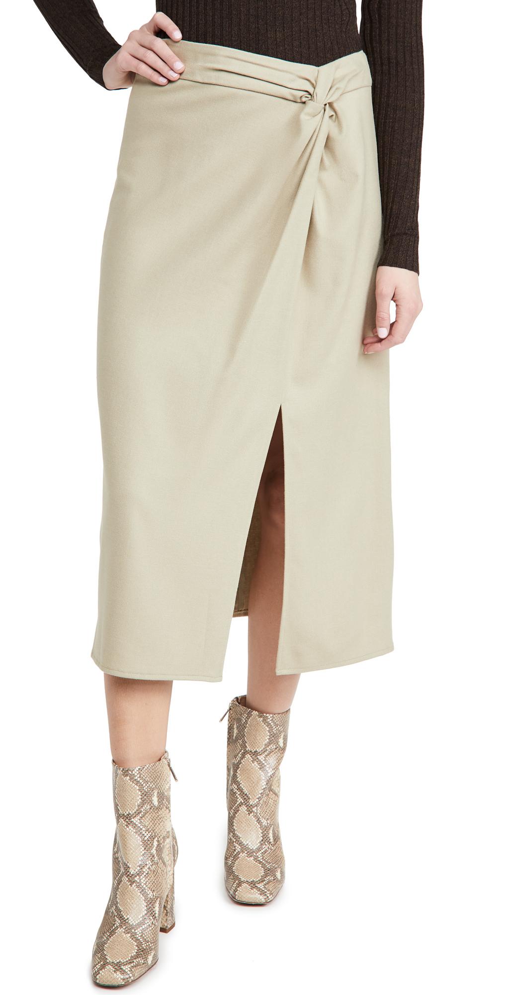 Vince Flannel Twist Knot Skirt