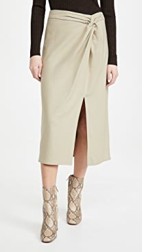 Vince Flannel Twist Knot Skirt