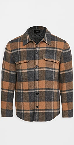 Vince - Plaid Wool Overshirt