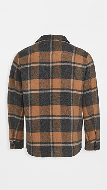 Vince Plaid Wool Overshirt
