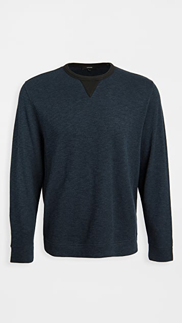 Vince Double Knit Crew Neck Sweater
