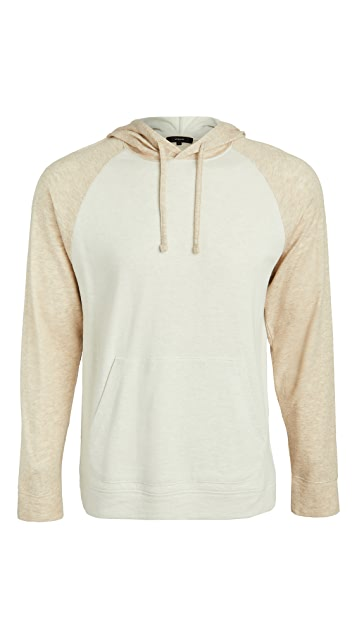 Vince Long Sleeve Double Knit Hoodie