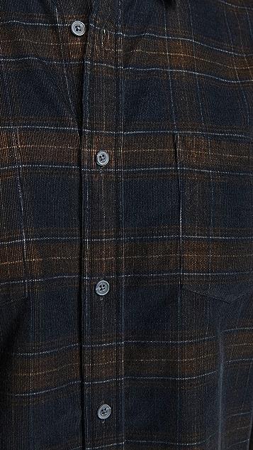 Vince Long Sleeve Corduroy Plaid Shirt