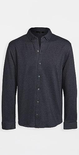 Vince - Long Sleeve Birdseye Button Down Shirt