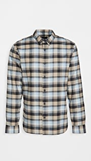 Vince Soft Plaid Long Sleeve Shirt